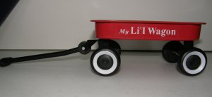 VINTAGE RED Doll Toy Wagon
