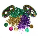 Mardi Gras Theme Party Pack - Mask, Beads & Doubloons