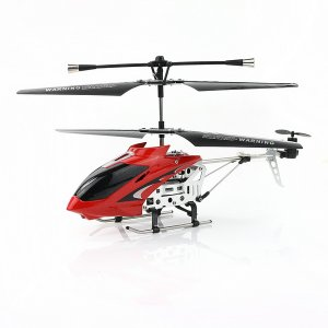 Rechargeable 3.5-Channel Infrared Mini Metal RC Helicopter Light-Red