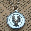 Steampunk Deer Locket Necklace Vintage Style Original Design