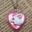 Steampunk rabbit Locket Necklace Vintage Style Original Design