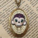 Steampunk MonkeyLocket Necklace Vintage Style Original Design