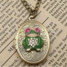 Steampunk Frog Locket Necklace Vintage Style Original Design
