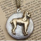 Steampunk Dog Locket Necklace Vintage Style Original Design