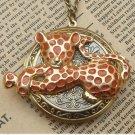 Steampunk CougarLocket Necklace Vintage Style Original Design