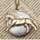 Steampunk Horse Locket Necklace Vintage Style Original Design