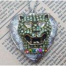 Steampunk Cougar Locket Necklace Vintage Style Original Design