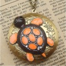 Steampunk Turtle Locket Necklace Vintage Style Original Design