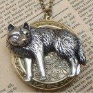 Steampunk Wolf Locket Necklace Vintage Style Original Design
