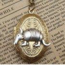 Steampunk Pangolin Locket Necklace Vintage Style Original Design