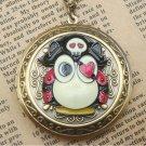 Steampunk Pirate Owl Locket Necklace Vintage Style Original Design