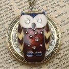Steampunk Owl Locket Necklace Vintage Style Original Design