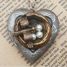 Steampunk Nest Locket Necklace Vintage Style Original Design