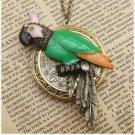 Large Steampunk Parrot Locket Necklace Vintage Style Original Design