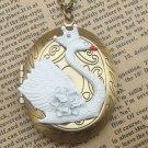 Steampunk Swan Locket Necklace Vintage Style Original Design