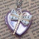 Steampunk Butterfly Locket Necklace Vintage Style Original Design