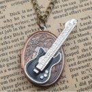 Steampunk Guitar Locket Necklace Vintage Style Original Design
