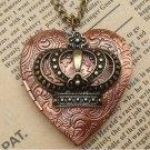 Steampunk Crown Locket Necklace Vintage Style Original Design