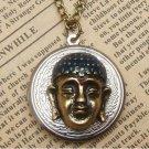 Steampunk Buddha Locket Necklace Vintage Style Original Design