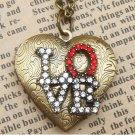 Steampunk Love Locket Necklace Vintage Style Original Design