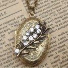 Steampunk Leaf Locket Necklace Vintage Style Original Design