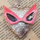 Steampunk Mask Locket Necklace Vintage Style Original Design