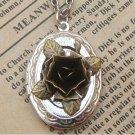 Steampunk Flower Locket Necklace Vintage Style Original Design