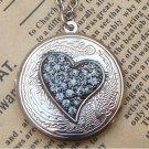 Steampunk Heart Locket Necklace Vintage Style Original Design