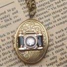 Steampunk Camera Locket Necklace Vintage Style Original Design