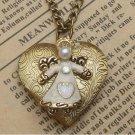 Steampunk Angel Locket Necklace Vintage Style Original Design