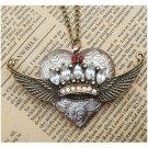 Steampunk Flying CrownLocket Necklace Vintage Style Original Design