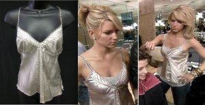 Gold Hawk studded silver moonbeam camisole aso Jessica Simpson