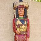 Cigar Store Indian 5 ft Red Coat Buffalo Chief Statue w Knife
