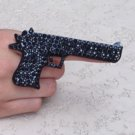 RHINESTONE GUN RING BLACK