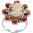 Cameo Ring in Sterling Silver Size 6 (Retail $240)