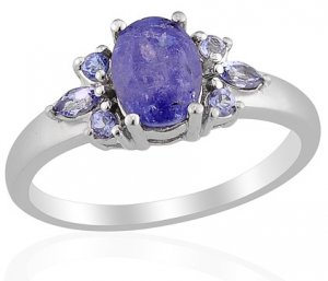 Tanzanite Ring in Sterling Silver (Size 7) Retail $149