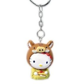 """Hello Kitty Key Chain - Chinese Zodiac """"Year of the Pig"""""""