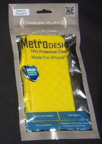 iPhone 5 TPU Protective Case - Yellow (Metro Design)
