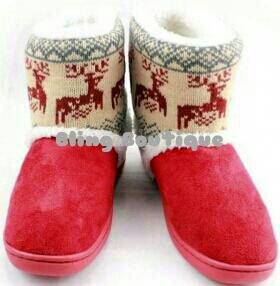 Women's Winter Booties Deer Design Size Size 5-5.5
