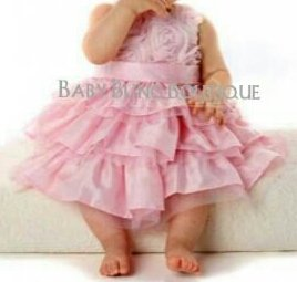 Pink Girls Special Occassion/Easter/Flower Girl Rose-Petal Dress Size 3T