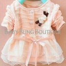 Girl's/Toddler Lace Bow-Sweater Size 12 months