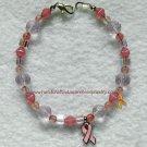 Pink, Ribbon, Breast Cancer, Awareness, Crystal, Bracelet;  item# PRCB