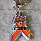 CRPS, RSD, Orange, Ribbon, Awareness, HOPE4, Pull, Charm; item# HPC