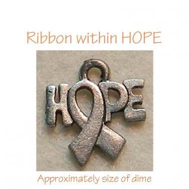 Awareness Ribbon within HOPE Charm