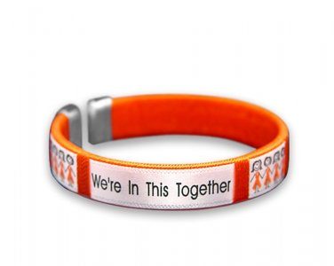 """We're In This Together"", Fabric, Bangle, Bracelet"