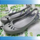 New CROCS™ MALINDI gray women shoes Sz:W5-W8=EUR35-39