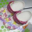 lovely CROCS™ hello kitty kid's shoes SZ;4C5-M3/W5