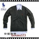 Wholesale Super poloo  round neck Men's Long Sleeve black Sweater
