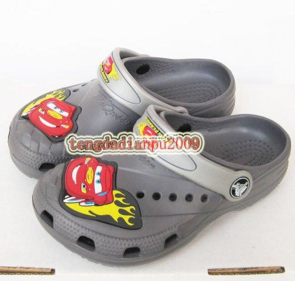 new CROCS� cars McQueen gray boy's sandal shoe