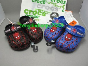 genuine CROCS� spider-man 2color boy' shoe sz:6C7-12C13
